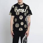 Мужская футболка Evisu Multi Daruma Black фото- 4