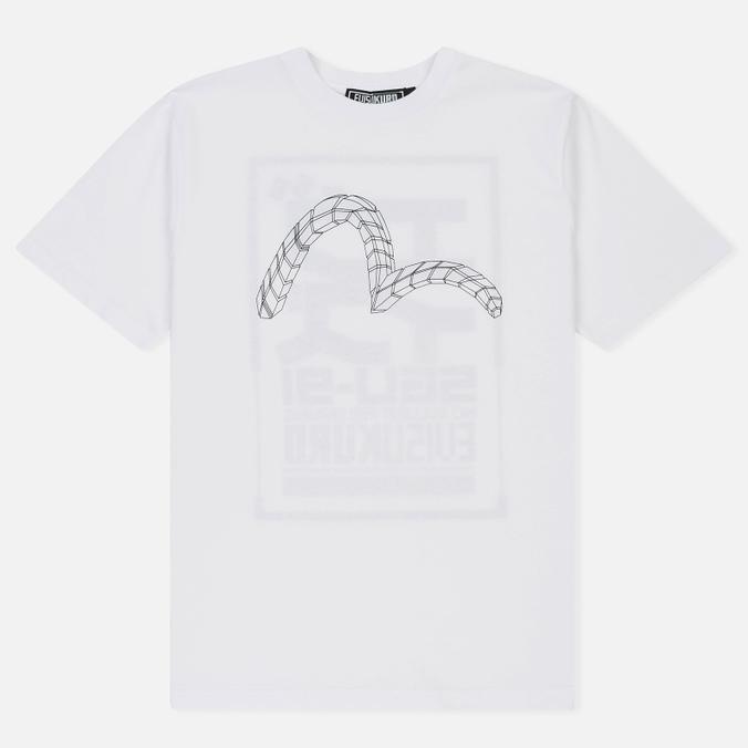 Мужская футболка Evisu No Bullshirt Print White