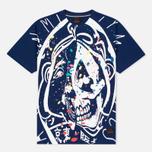 Мужская футболка Evisu Splatter Godhead Blue фото- 0