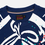 Мужская футболка Evisu Splatter Godhead Blue фото- 1