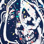 Мужская футболка Evisu Splatter Godhead Blue фото- 2