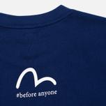 Мужская футболка Evisu Splatter Godhead Blue фото- 3