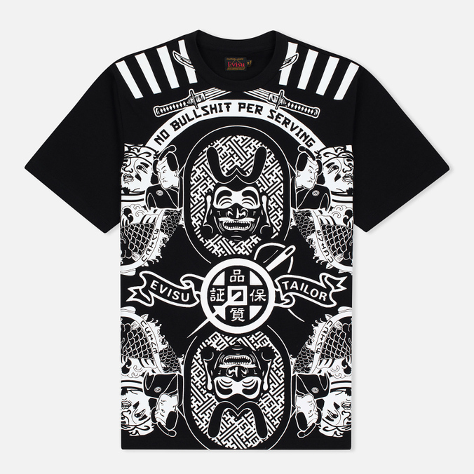 Evisu Sumarai Print Men's t-shirt Black