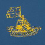 Мужская футболка Fjallraven Keep Trekking Navy фото- 2