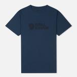 Мужская футболка Fjallraven Logo Blueberry фото- 0