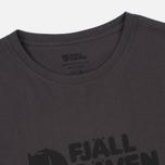Мужская футболка Fjallraven Logo Dark Grey фото- 1