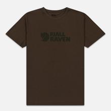 Мужская футболка Fjallraven Logo Dark Olive фото- 0