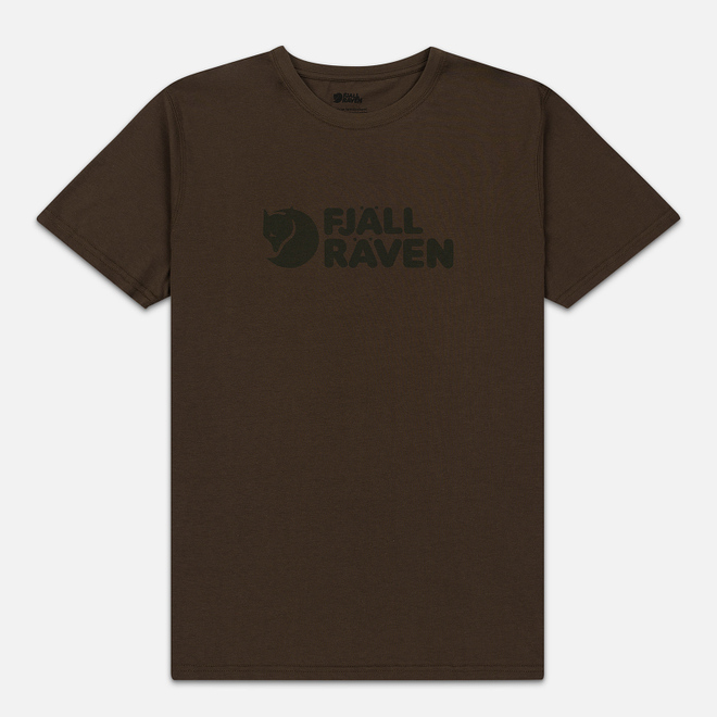 Мужская футболка Fjallraven Logo Dark Olive