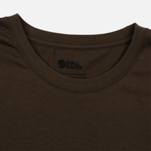 Мужская футболка Fjallraven Logo Dark Olive фото- 1