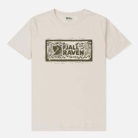 Мужская футболка Fjallraven Logo Stamp Eggshell