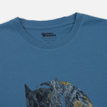 Мужская футболка Fjallraven Rock Logo Blue Ridge фото- 1