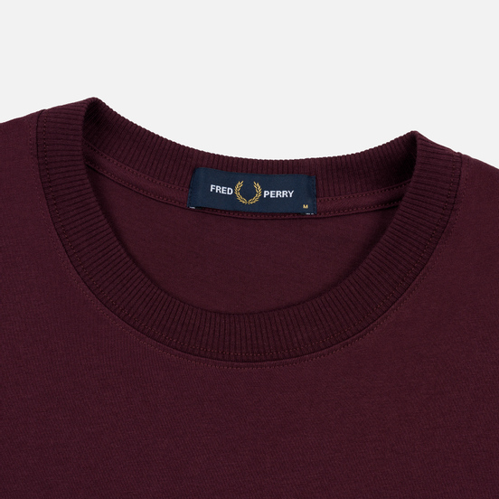 Мужская футболка Fred Perry Archive Branding Embroidered Mahogany