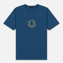 Мужская футболка Fred Perry Archive Branding Embroidered Midnight Blue фото- 0