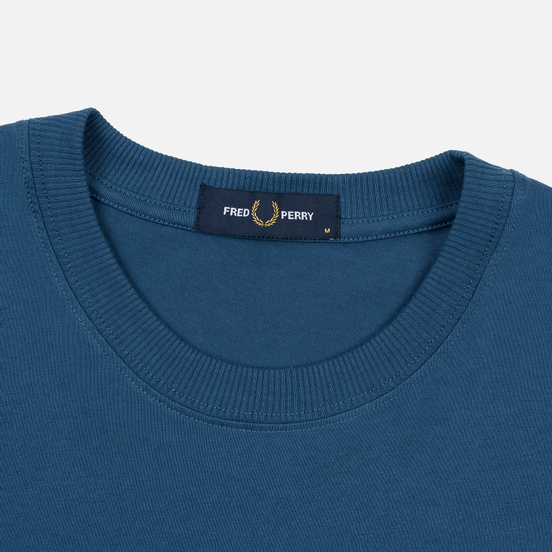 Мужская футболка Fred Perry Archive Branding Embroidered Midnight Blue