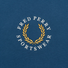 Мужская футболка Fred Perry Archive Branding Embroidered Midnight Blue фото- 2
