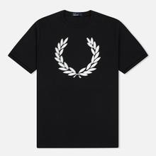 Мужская футболка Fred Perry Blurred Laurel Wreath Black фото- 0