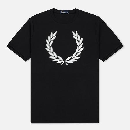 Мужская футболка Fred Perry Blurred Laurel Wreath Black