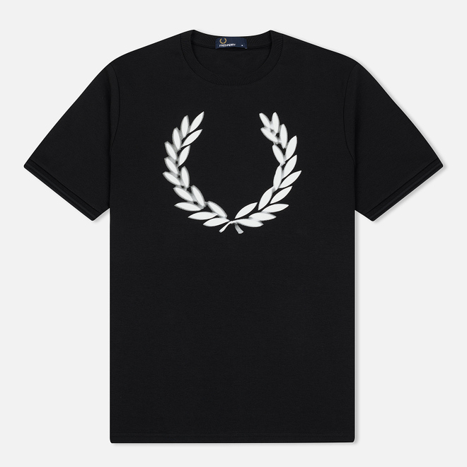 Мужская футболка Fred Perry Blurred Laurel Wreath Black
