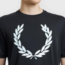 Мужская футболка Fred Perry Blurred Laurel Wreath Black фото- 2