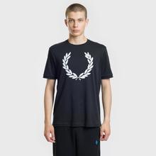 Мужская футболка Fred Perry Blurred Laurel Wreath Black фото- 1