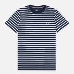 Мужская футболка Fred Perry Breton Stripe Carbon Blue фото- 0