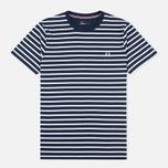 Fred Perry Breton Stripe Men's T-shirt Carbon Blue photo- 0