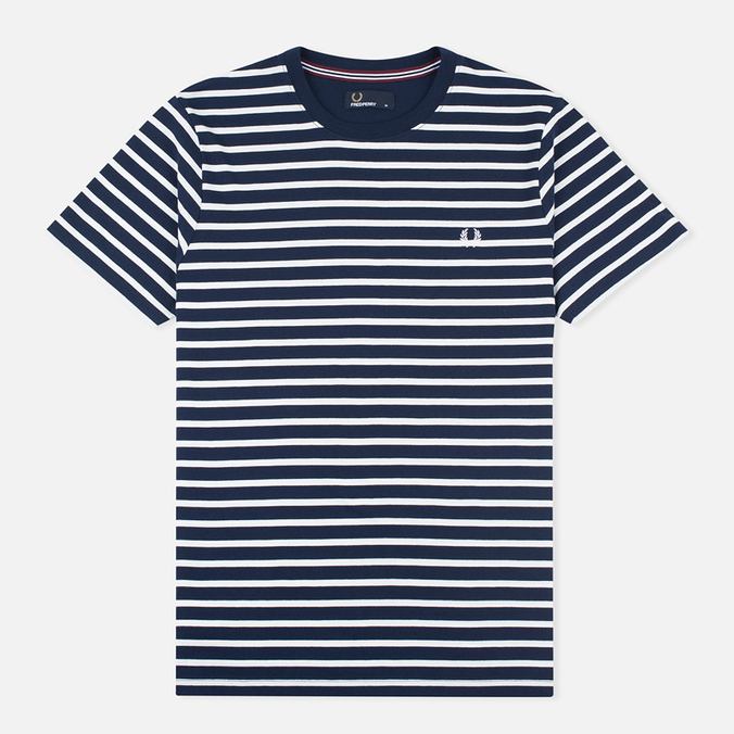 Fred Perry Breton Stripe Men's T-shirt Carbon Blue
