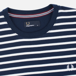 Мужская футболка Fred Perry Breton Stripe Carbon Blue фото- 1