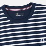Fred Perry Breton Stripe Men's T-shirt Carbon Blue photo- 1