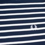Fred Perry Breton Stripe Men's T-shirt Carbon Blue photo- 2
