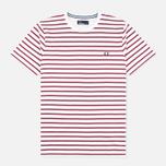 Мужская футболка Fred Perry Breton Stripe Porcelain фото- 0