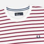 Мужская футболка Fred Perry Breton Stripe Porcelain фото- 1