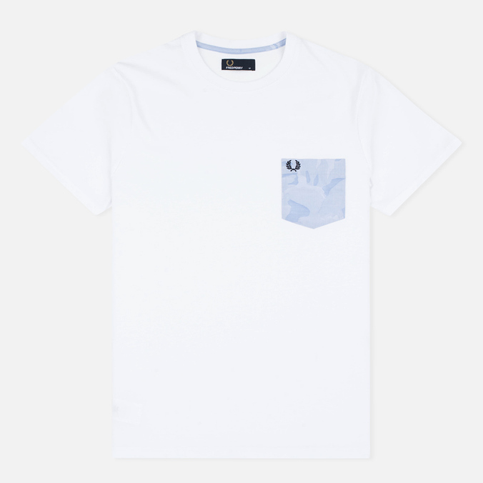 Fred Perry Camo Pocket Men's t-shirt White