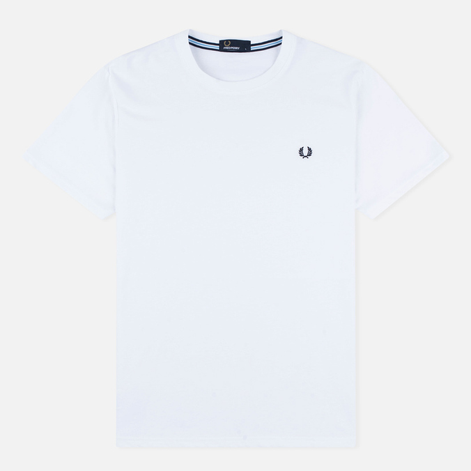 Fred Perry Crew Neck Men's T-shirt White