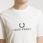 Мужская футболка Fred Perry Embroidered 90s Branding Caramel фото- 2