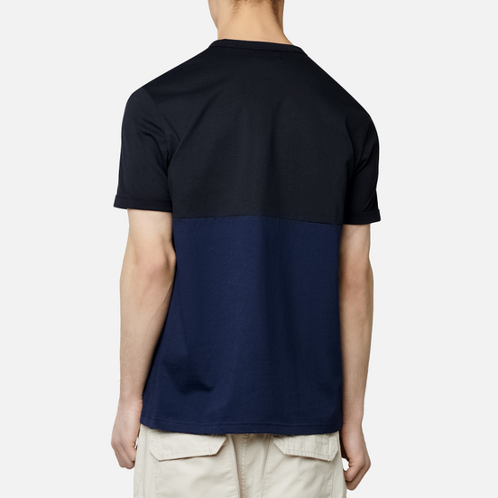 Мужская футболка Fred Perry Embroidered Panel Carbon Blue/White