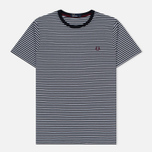 Мужская футболка Fred Perry Fine Stripe Navy фото- 0