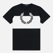 Мужская футболка Fred Perry Printed Laurel Wreath Black фото- 0