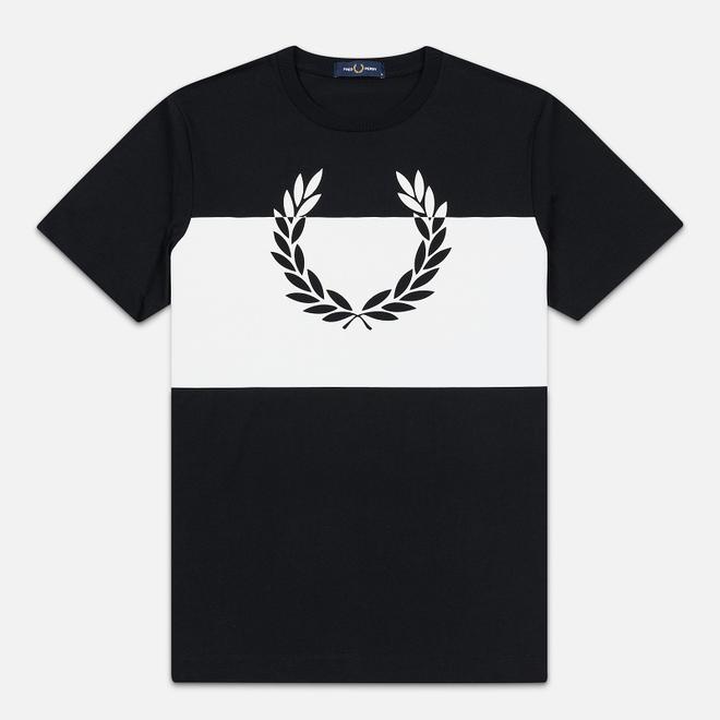 Мужская футболка Fred Perry Printed Laurel Wreath Black