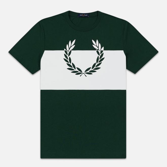 Мужская футболка Fred Perry Printed Laurel Wreath Ivy