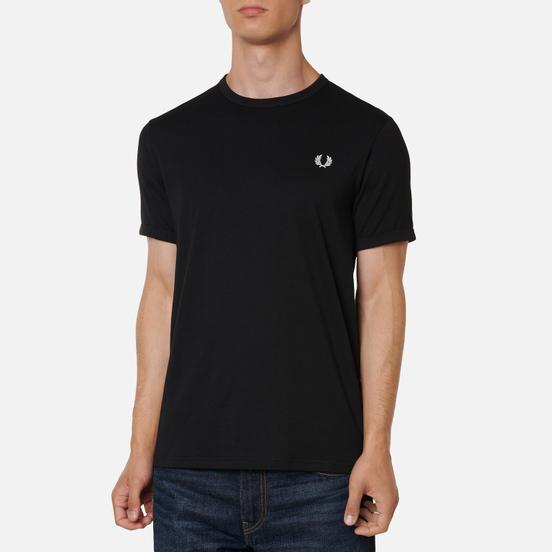 Мужская футболка Fred Perry Ringer Black/Black