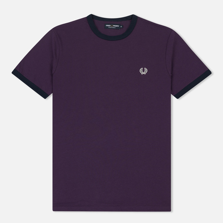 Мужская футболка Fred Perry Ringer Blackcurrant/Black