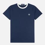 Мужская футболка Fred Perry Ringer Carbon Blue фото- 0