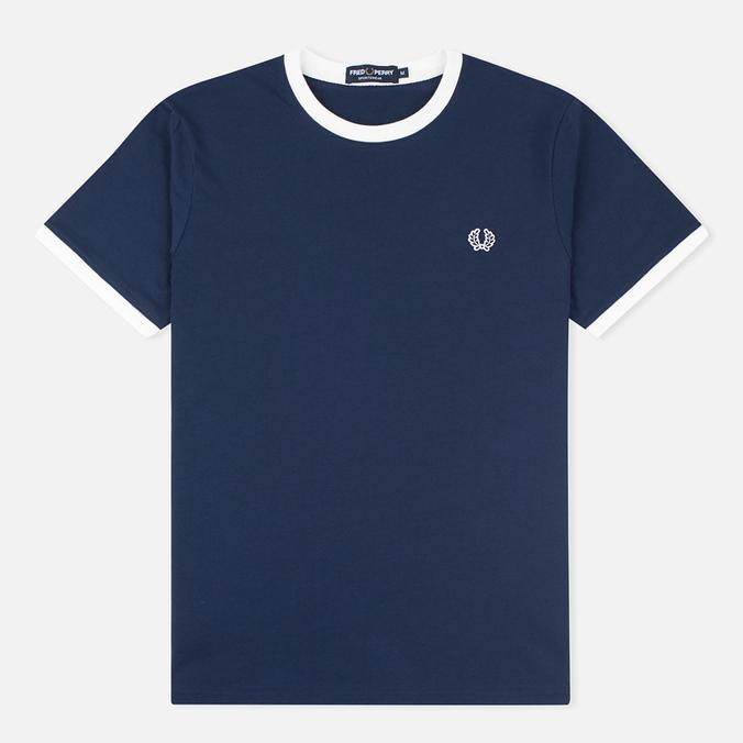 Мужская футболка Fred Perry Ringer Carbon Blue
