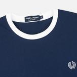 Мужская футболка Fred Perry Ringer Carbon Blue фото- 1