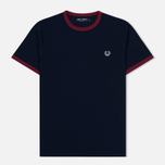 Мужская футболка Fred Perry Ringer Carbon Blue/Red фото- 0