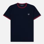 Мужская футболка Fred Perry Ringer Carbon Blue/Red фото- 0