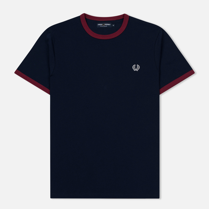 Мужская футболка Fred Perry Ringer Carbon Blue/Red