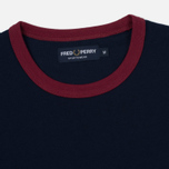 Мужская футболка Fred Perry Ringer Carbon Blue/Red фото- 1
