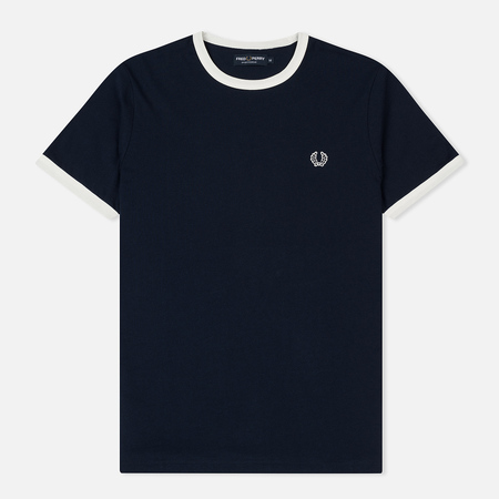 Мужская футболка Fred Perry Ringer Crew Neck Carbon Blue